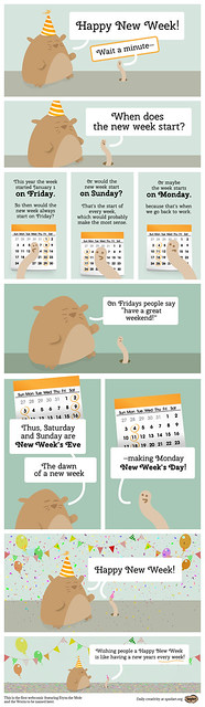 Happy New Week! A webcomic featuring Etym the Mole