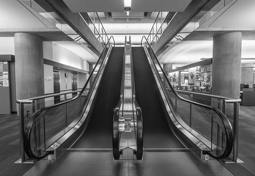 Escalator Long Exposure, Vancouver Central Library