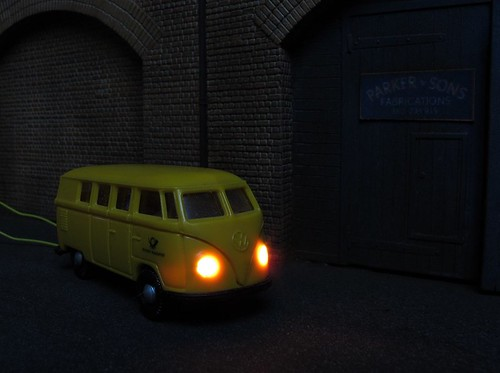 VW with lights