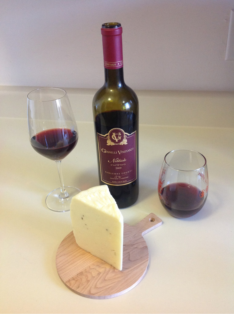 Nebbiolo and Italian Truffle Cheese 1