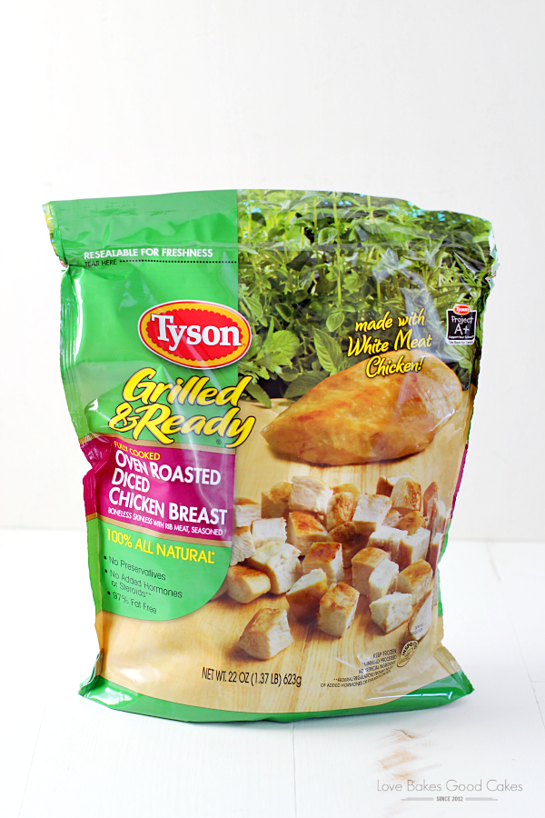 A bag of Tyson Grilled and ready chicken.