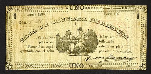 Lot 247 Chihuahua, Mexico. 1886, 1 Peso