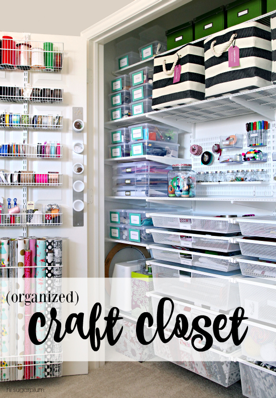 Hi Sugarplum | Organized Craft Closet