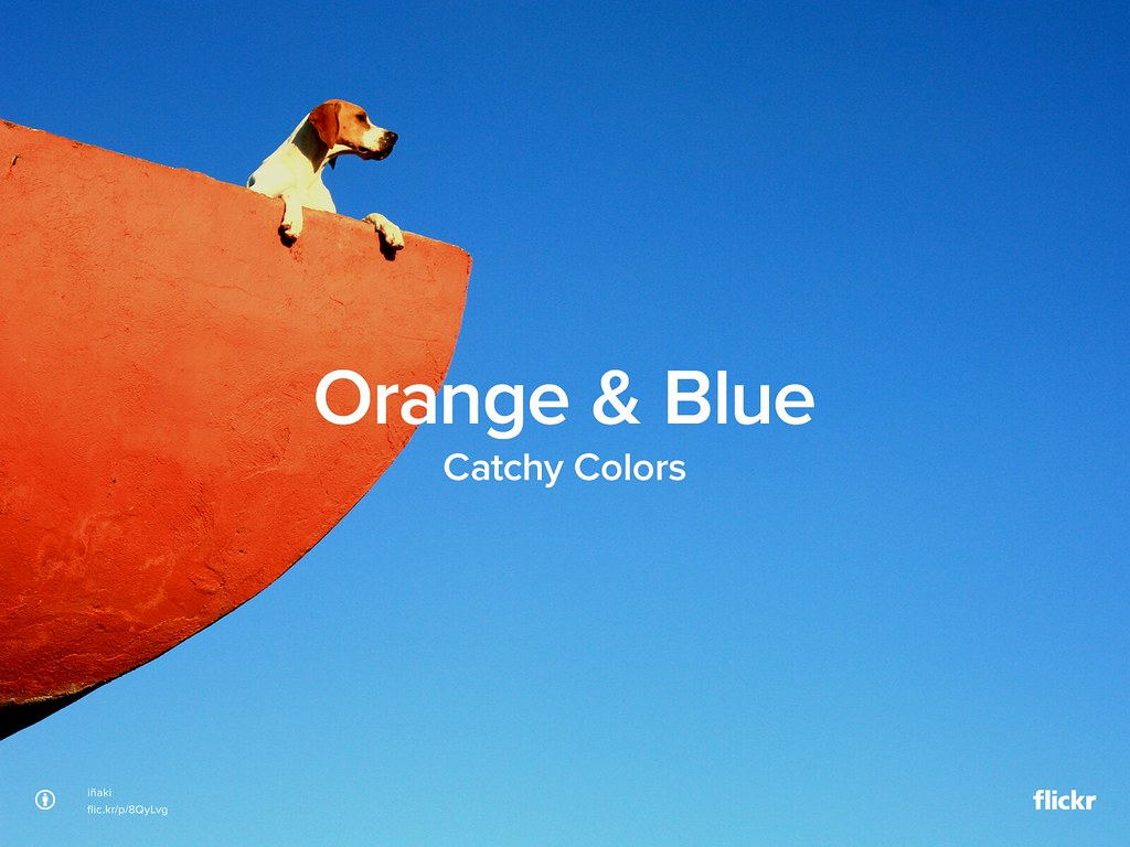 Catchy Colors: Orange & Blue