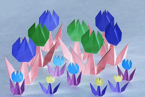 Origami Tulip (Taiko Niwa)