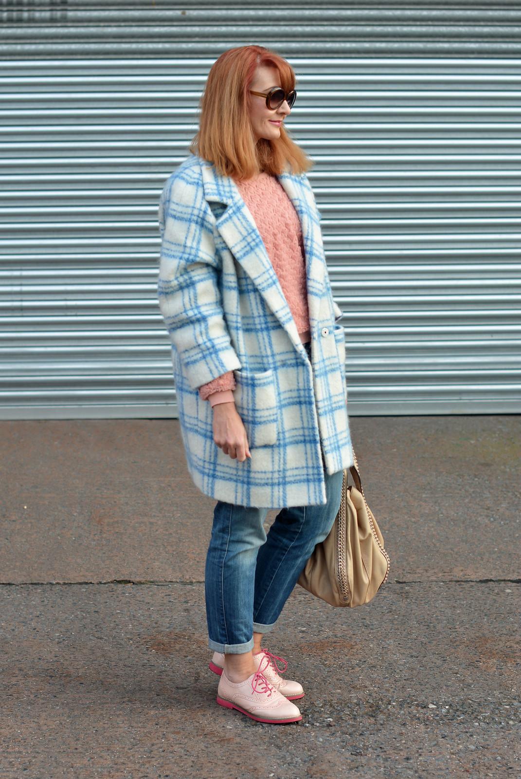 Not Dressed As Lamb   Pantone Rose Quartz and Serenity winter outfit