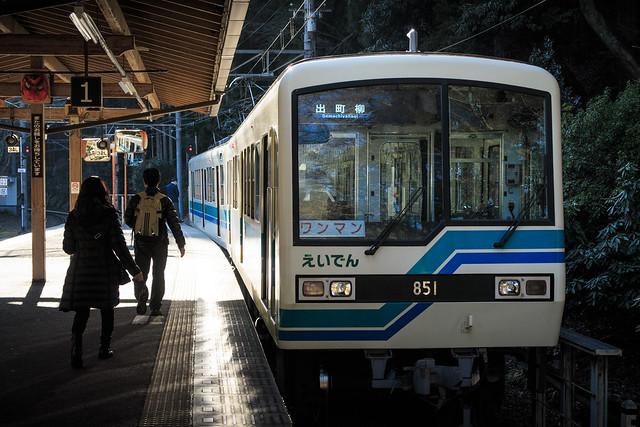 叡山電車で出町柳へ