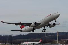 HB-JHG Airbus A330-343 A333 > SWR 'Glarus'