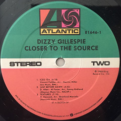 DIZZY GALESPIE:CLOSER TO THE SOURCE(LABEL SIDE-B)