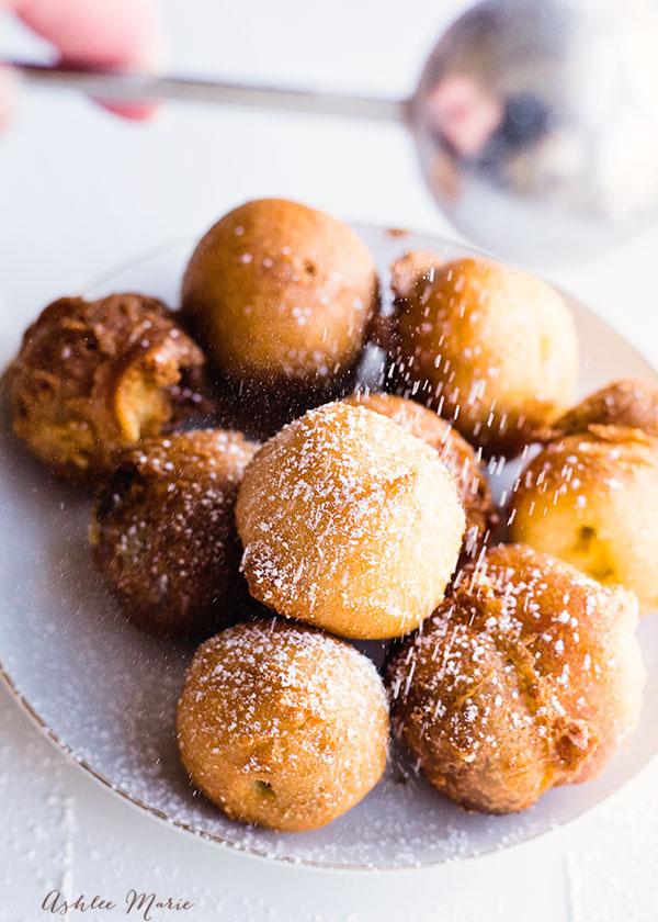 my favorite fried dessert, cookie dough balls, warm, gooey, soft and divine