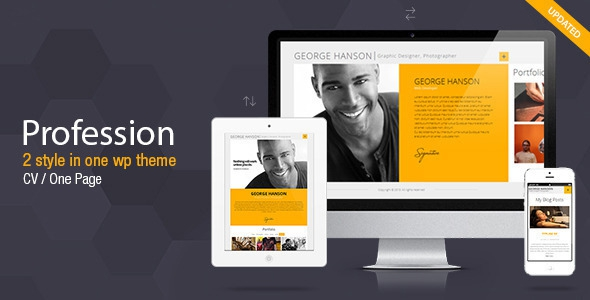 Profession v2.9.4 - One Page CV Resume Theme