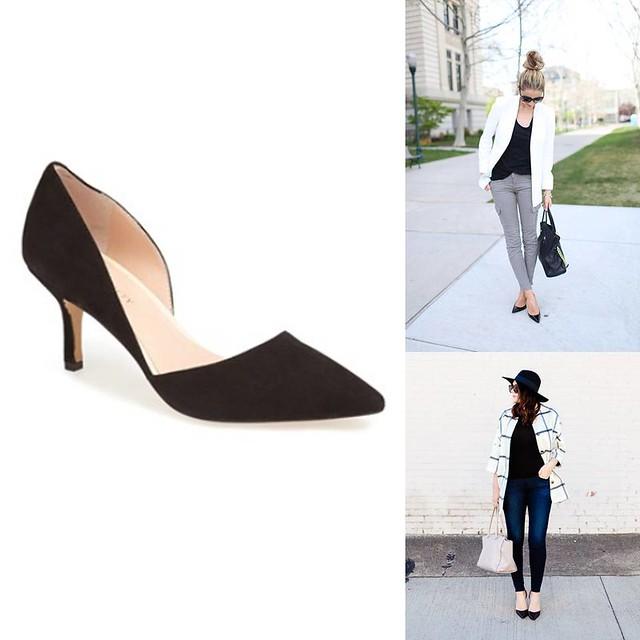 how to wear black suede heels