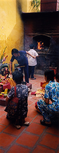 Burning incense and wishes in Saigon's Fujian temple