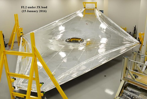 A layer of the James Webb Space Telescope's flight sunshield