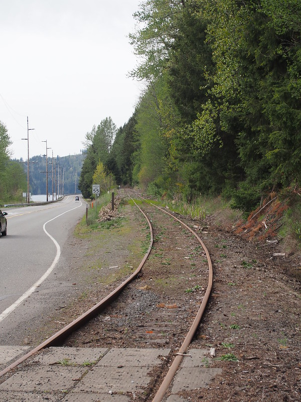 Old Tacoma Eastern Railroad: Locals tell me these tracks aren't ever used anymore, though they may be used for shuttling rolling stock to the Mount Rainier Scenic Railroad.
