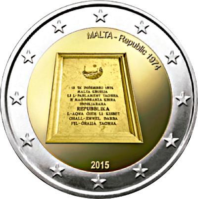 2 Euro Malta 2015, Republika