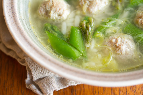 Spring Chicken Meatball Soup