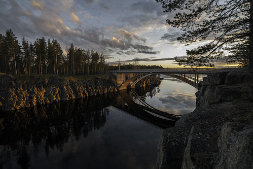 bridge sunset canon finland 5d lappeenranta 14mm samyang kirjamoinsalmi