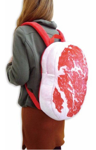 萬惡宵夜文的新手法!看起來超美味的霜降肉背包 肉リュック~