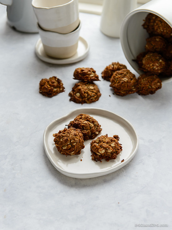 Vegan & Gluten Free Teff Anzac Biscuits