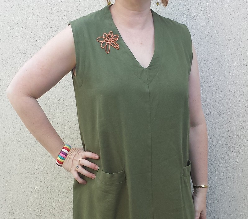 Style Arc Vivienne dress in cotton linen from Darn Cheap Fabrics