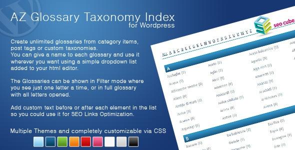 CodeCanyon AZ Glossary Taxonomy Index v1.07
