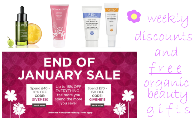 Weekly Discounts and Free Organic Beauty Gifts #51