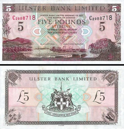 Northern Ireland p335c: 5 Pounds from 2001