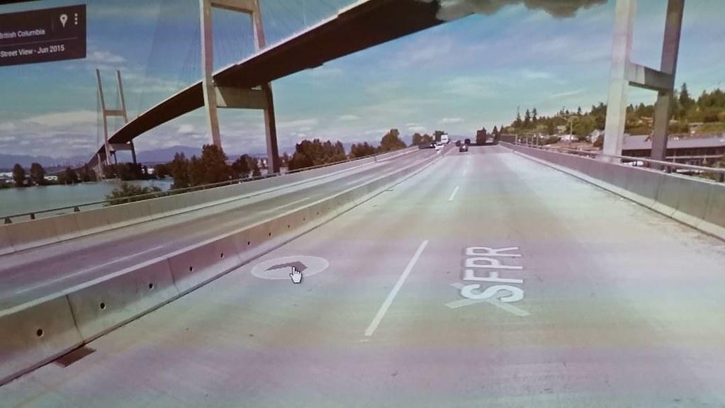 #ridingthroughwalls by the Alex Fraser Bridge, BC