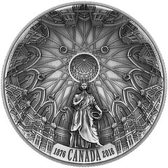 Canada Library of Parliament coin reverse
