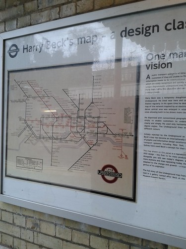 Old Tube Map at FInchley Central