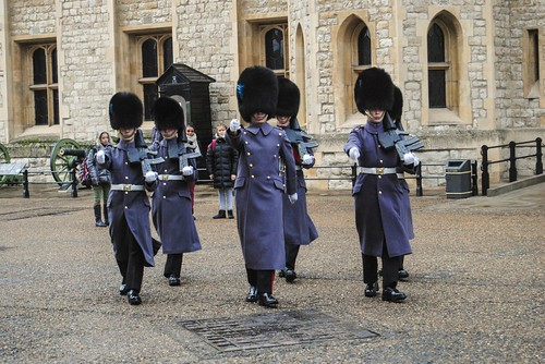 Changing the Guard of the Crown Jewels Building