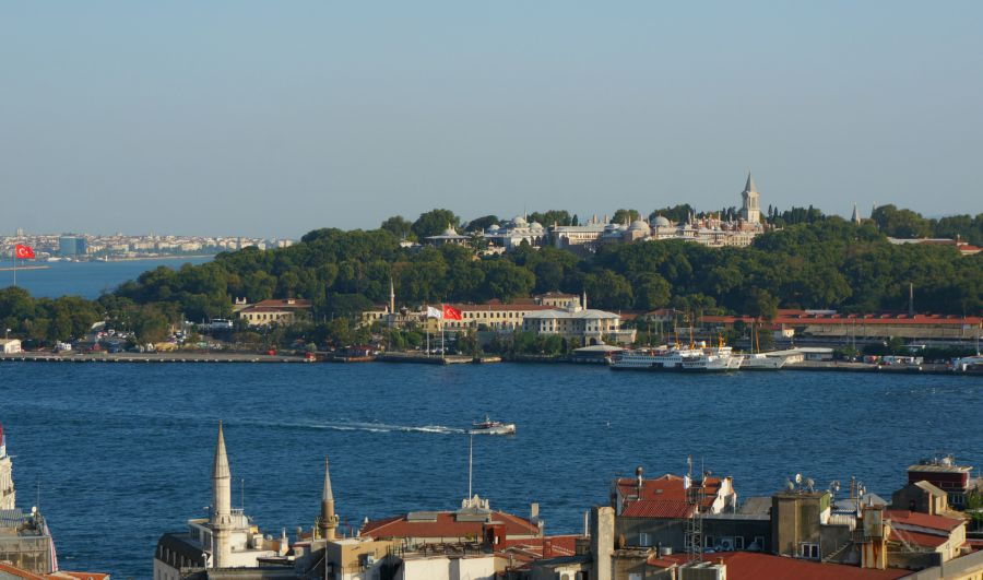 View of the Bosporus from the rooftop cafe