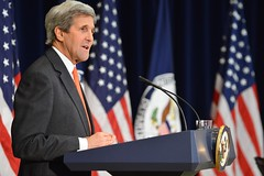 U.S. Secretary of State John Kerry holds a town hall meeting with Department of State personnel, at the U.S. Department of State, in Washington, D.C. on February 8, 2016. [State Department Photo/Public Domain]