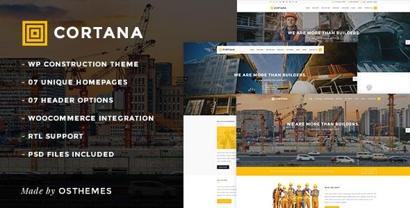 Themeforest Cortana v1.0 – Construction & Building WordPress Theme