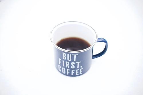 but first, coffee    storm jonas