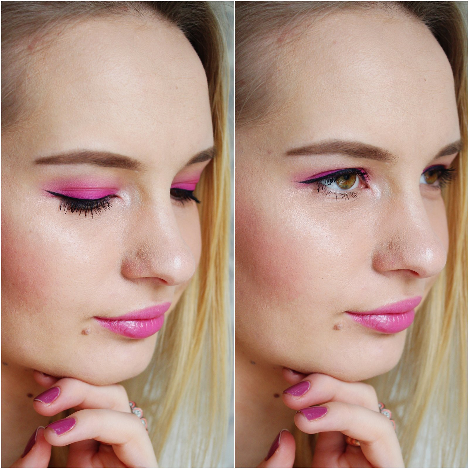 How to wear pink eyeshadow