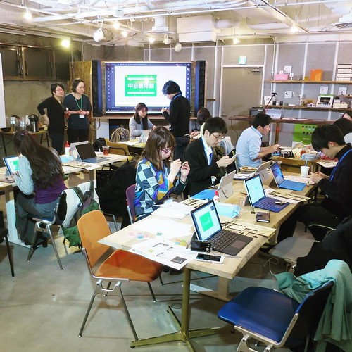 渋谷のFabCafe 二階が会場。
