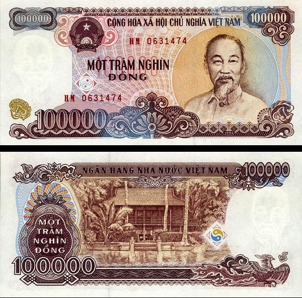 100 000 Dong Vietnam 1994 (2000), P117a