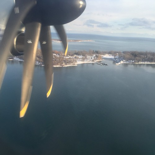 About to land at Billy Bishop airport in Toronto