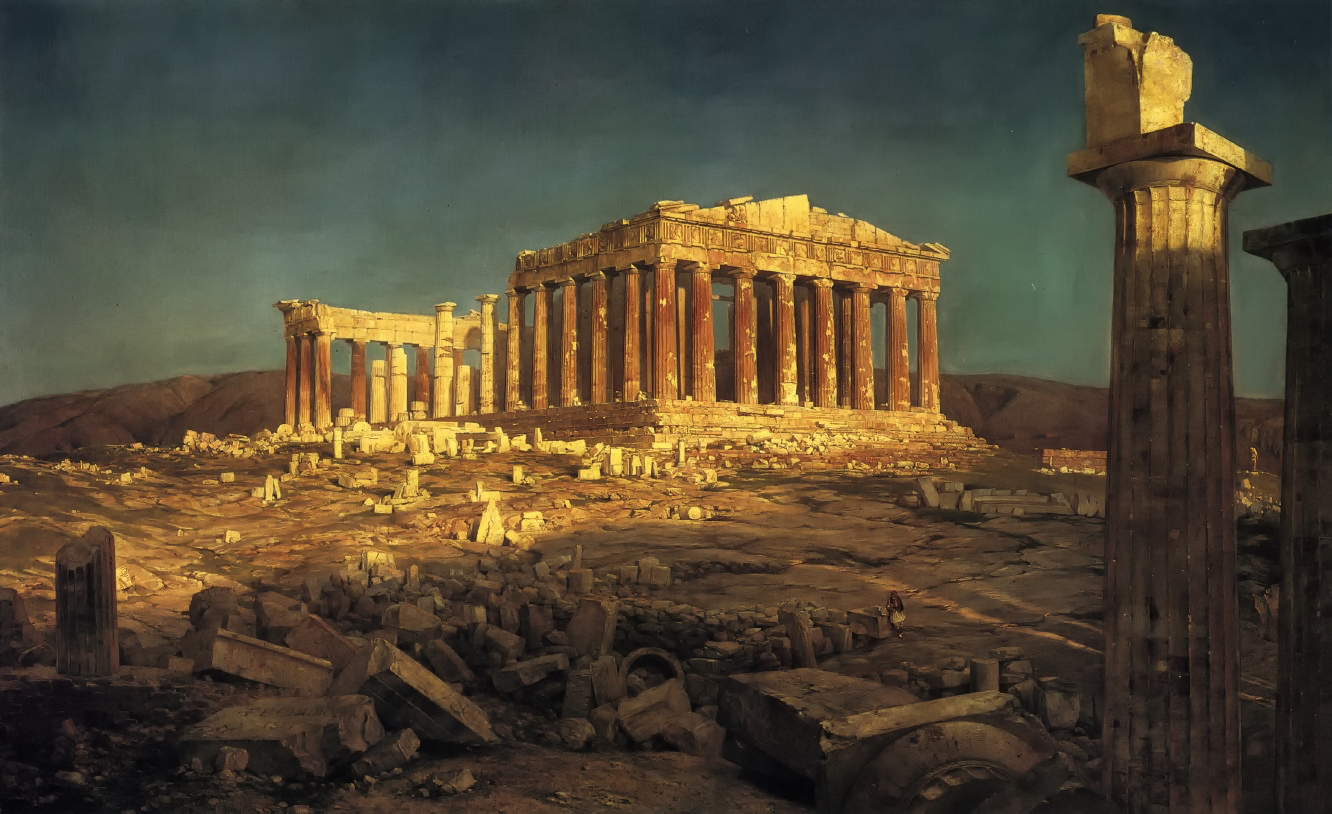 The Parthenon by Frederic Edwin Church, 1871