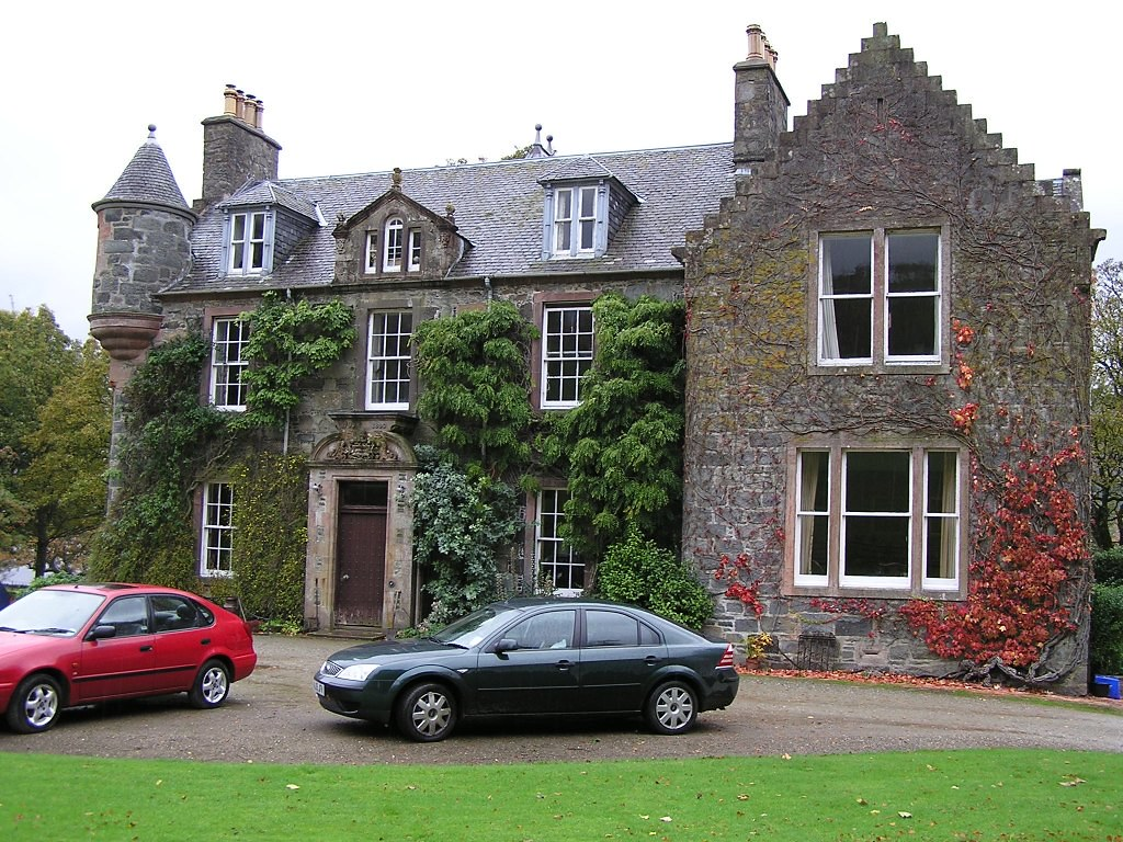 ardvorlich house perthshire in scotland c18 house designed by robert ferguson on the site of previous house or castle house is a traditional and very typical baronial style small country house in
