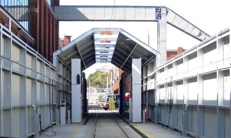 Preston tram depot: tram wash