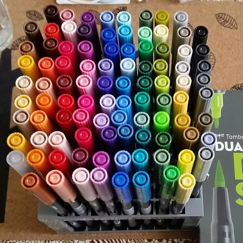 Tombow full set dual brush pens