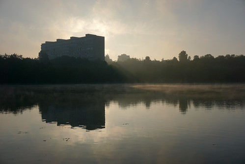 bucharest romania sectore ior titan park lake morning sunrise bucuresti a6000