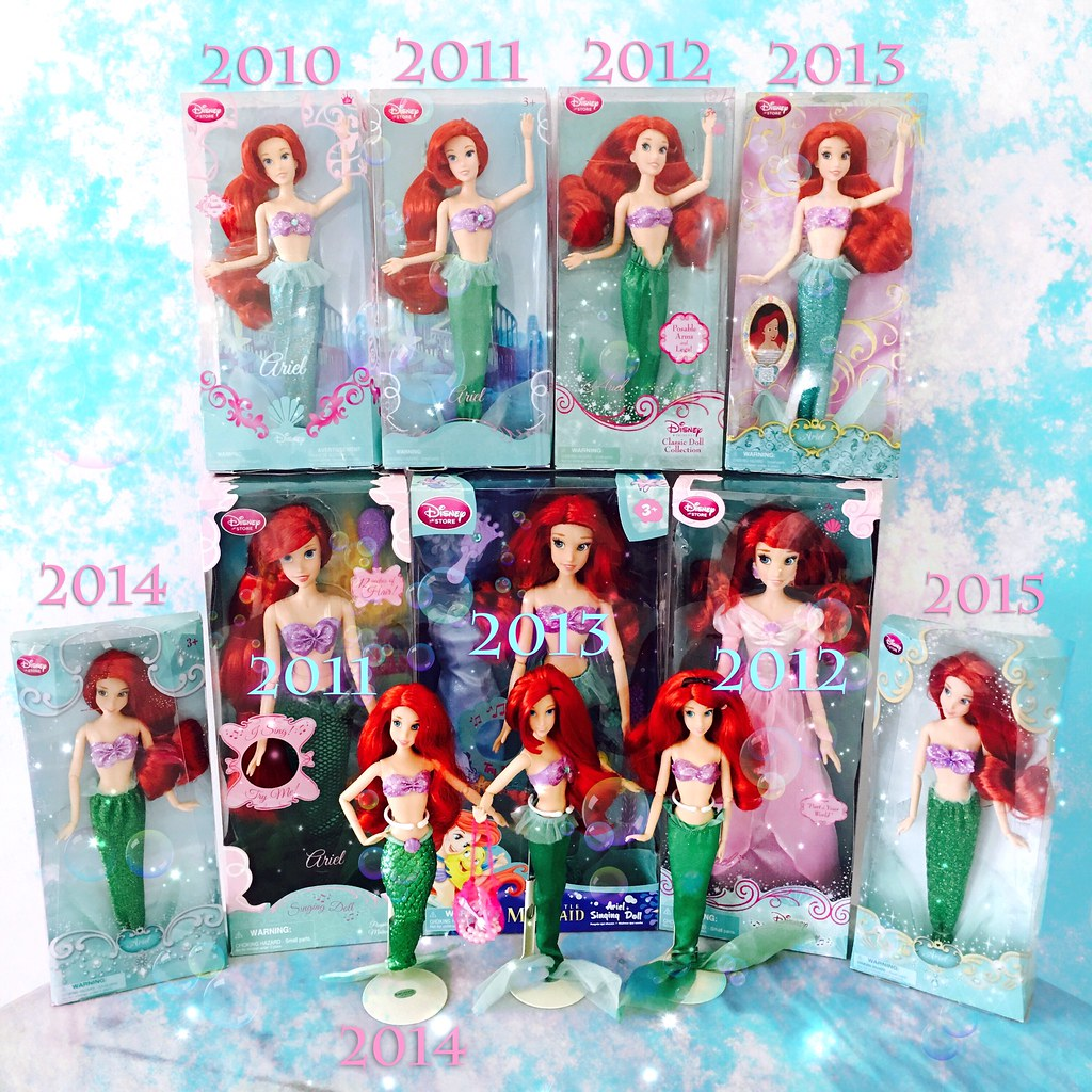 3f2a984a31 ... 2010 - 2015 My Current Disney Store The Little Mermaid Ariel Classic    Singing Doll Collection