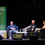 Irvine Welsh & Robert Carlyle having a chuckle | © Alan McCredie