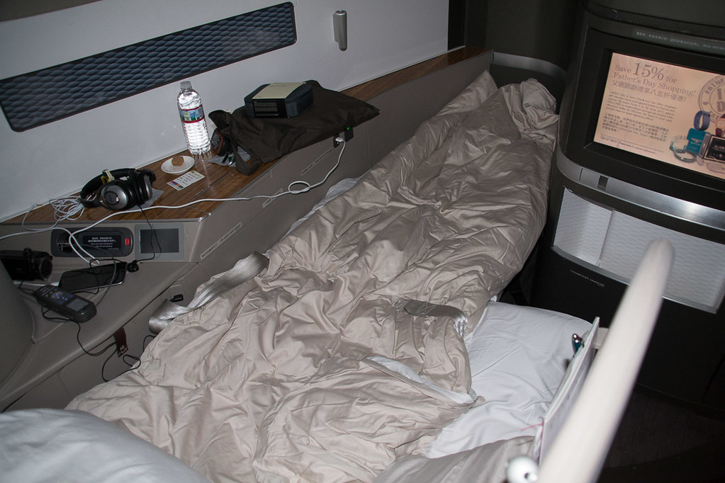 Cathay Pacific First Class Lay Flat Bed