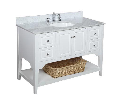 Kitchen Bath Collection KBC48TRA33WTCARR Washington Bathro ...