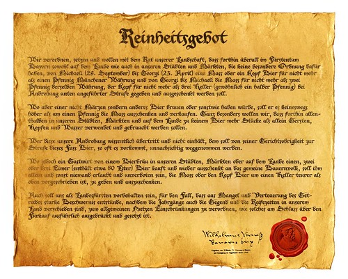 500 years of Reinheitsgebot
